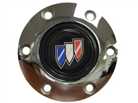 S6 Chrome Horn Button with Buick Tri-Shield Emblem