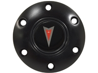 S6 Black Horn Button with Pontiac Red Arrow Emblem