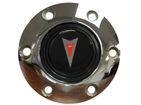S6 Chrome Horn Button with Pontiac Red Arrow Emblem