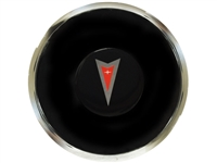 S6 Deluxe Horn Button with Pontiac Red Arrow Emblem