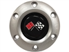 S6 Brushed Horn Button with Cross Flags Emblem