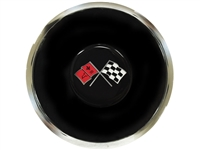 S6 Deluxe Horn Button with Cross Flags Emblem