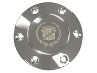 Volante S6 Etched Series Chrome Horn Button with Cadillac Crest & Wreath Emblem