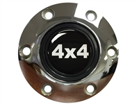 S6 Chrome Horn Button with 4x4 Emblem