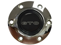 Pontiac GTO Outline Emblem, S6 Chrome Horn Button
