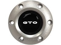 Pontiac GTO White Emblem, S6 Brushed Horn Button