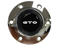 Pontiac GTO White Emblem, S6 Chrome Horn Button