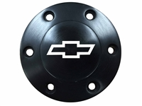 Volante S6 Etched Series Black Horn Button with a Chevy Bow Tie