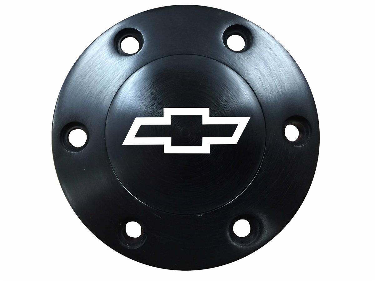 Volante S6 Chrome Horn ButtonChevy Silver Bow Tie Emblem