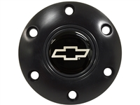 S6 Black Horn Button with Silver Chevy Bow Tie Emblem