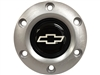 VSW S6 Brushed Horn Button with Silver Chevy Bow Tie Emblem