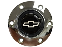 S6 Chrome Horn Button with Silver Chevy Bow Tie Emblem