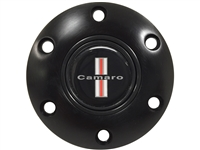 S6 Black Horn Button with Classic Camaro Emblem