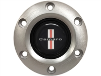 S6 Brushed Horn Button with Classic Camaro Emblem