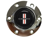 S6 Chrome Horn Button with Classic Camaro Emblem