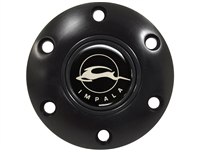 S6 Black Horn Button with Impala Emblem