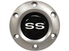 VSW S6 Brushed Horn Button with White SS Emblem