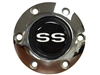VSW S6 Chrome Horn Button with White SS Emblem