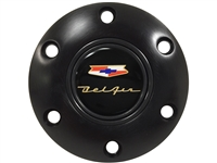 Chevy , Bel Air , Black , Horn Button , 6 Bolt , GM , Volante , Auto Pro USA , 1955 , 1956 , 1957 , Tri 5 ,