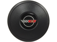 S9 Black Horn Button with C4 Corvette Emblem