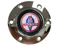 Auto Pro USA , Volante , Ford , Cobra , Chrome , Brushed , Black , Horn Button , 6 Bolt , volante , mustang , 3d , foil , emblem