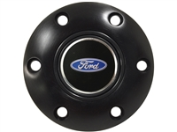 S6 Black Horn Button with Ford Oval Emblem