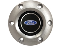 S6 Brushed Horn Button with Ford Oval Emblem
