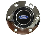 S6 Chrome Horn Button with Ford Oval Emblem