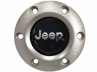 Volante S6 Brushed Horn Button, Jeep Emblem