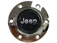 Volante S6 Chrome Horn Button, Jeep Emblem