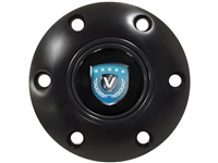 Volante Emblem , Black , Horn Button , S6 , 6 Bolt , Volante Steering Wheels ,