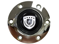 S6 Sport Chrome Horn Button with White VSW Emblem
