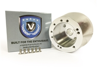 Volante S6 Steering Wheel Silver Hub Adapter,  Ididit Columns - GM Spline