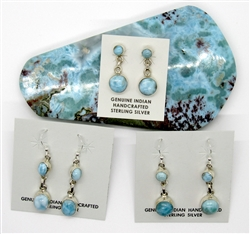 Larimar Earrings 053