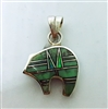 Varisite Dual Inlay Bear Pendant