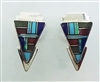 Multistone Inlay Geometric Earrings