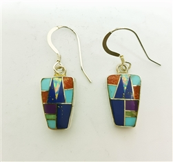 Multistone Inlay Earrings