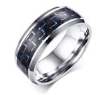 Stainless Steel Blue Carbon Fiber