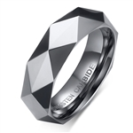 Tungsten Faceted Ring