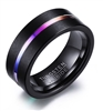 Tungsten Carbide Colored Center Ring