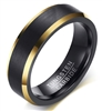 Tungsten Black Gold Ring