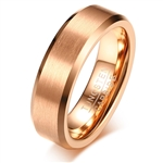 Tungsten Rose Gold Ring