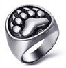 Stainless Steel Bear Paw Ring