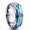 Tungsten Opal Abalone Ring