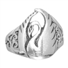 Silver Swan Ring