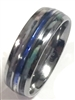 Tungsten Carbide Opal & Shell Inlay Ring