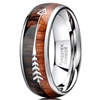 Tungsten Wood & Arrow Ring