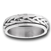 Stainless Steel Braided Spinner Ring