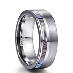 Tungsten Carbide Shell Inlay Ring