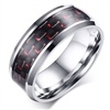 Stainless Steel Red Carbon Fiber